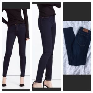 ZARA dark wash skinny jeans size 6